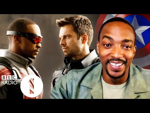 """He's the most boring man I've ever met!"" Anthony Mackie on Sebastian Stan and flying as The Falcon."