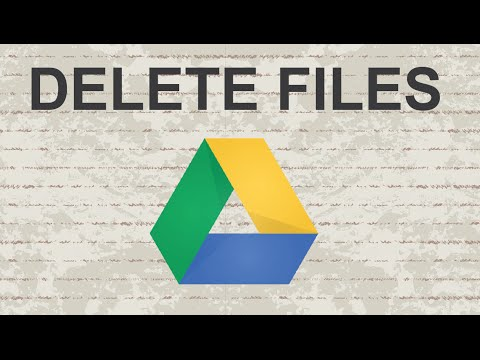 how to permanently delete files from google drive