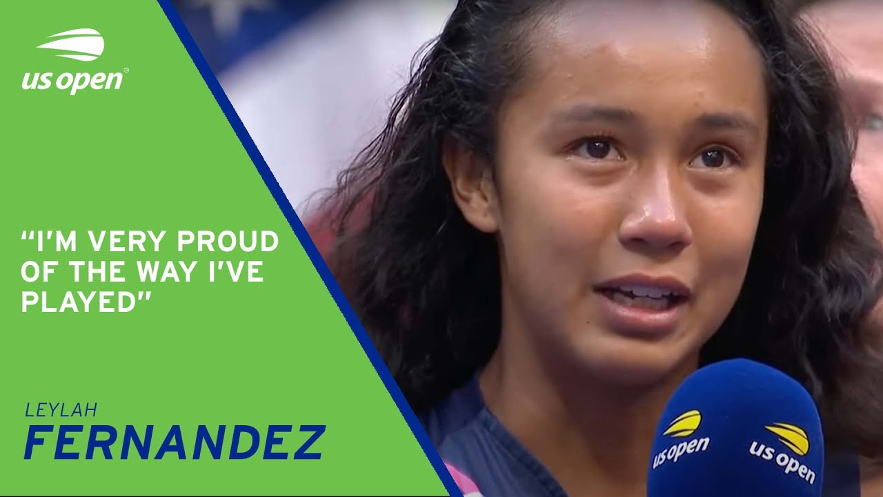 Leylah Fernandez On-Court Interview|2021 United States Open Final thumbnail