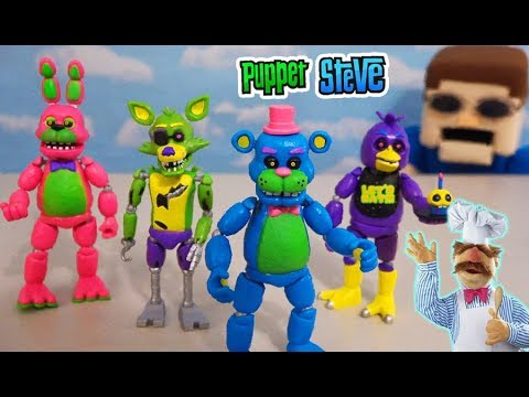 Five Nights at Freddy's Funko Articulated Figures Series 5 - The Blacklight Set Unboxing