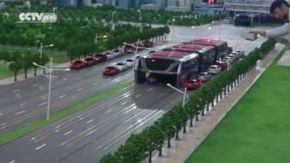 В Китае показали концепт автобуса, не мешающий машинам