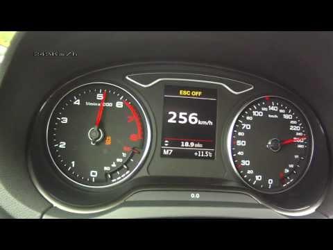 Audi A3 Sportback 1,8 TFSI 2013 - acceleration 0-220 km/h, top speed test