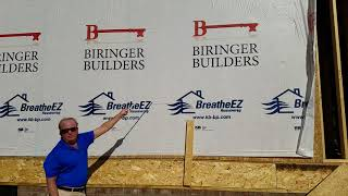Biringer Builders Imprinted BreatheEZ™ House Wrap