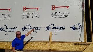 Biringer Builders Imprinted BreatheEZ™ House Wrap