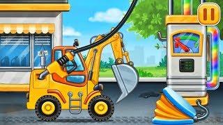 الحفار, الجرار, سيارة الإطفاء, شاحنات القمامة ولعبة البناء للأطفال,ألعاب سيارات Excavator Toys تحميل MP3