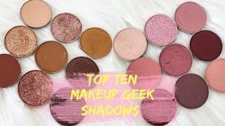 Favourite Makeup Geek Shadows ♡ Sophia LCS