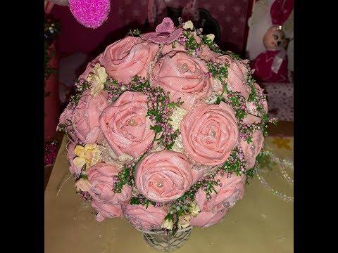 Stoff Rosen selbstgemacht und Rosen Kugel