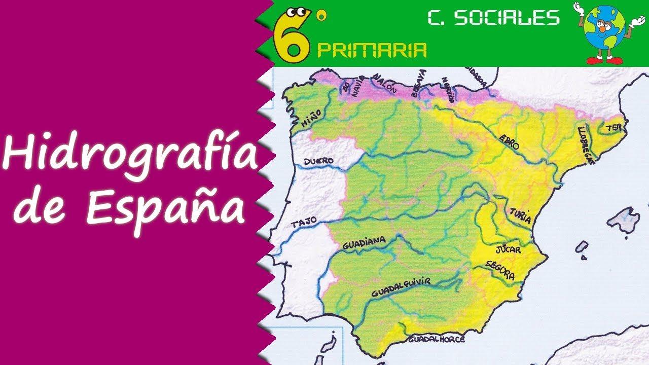 Hidrografía de España. Sociales, 6º Primaria