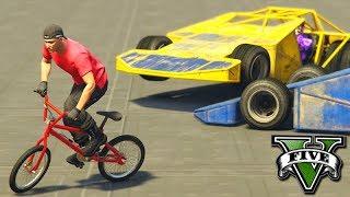 GTA V Online: BMX vs CARRO RAMPA - NINGUÉM ME PEGA!!!