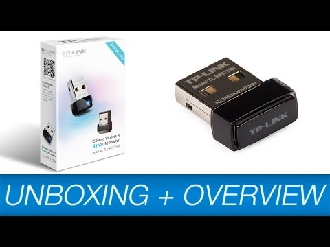 TP-LINK Nano WLAN USB Adapter Unboxing + Installation