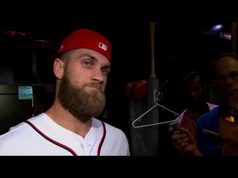 RAW : Nationals Bryce Harper interview before final home game of 2018