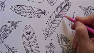How To Color Feathers From The Enchanted Forest Coloring Book Lisa Brando Extreme Tutorial