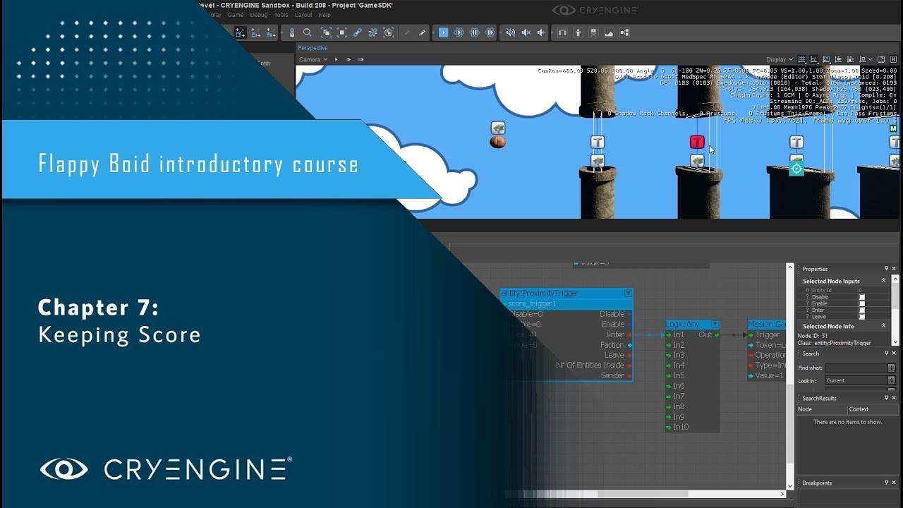 FlappyBoid Introduction to CRYENGINE - Chapter 7: Keeping Score