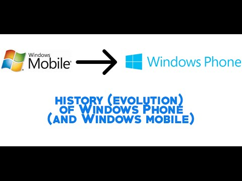 History (evolution) of Windows Phone (and Windows Mobile)
