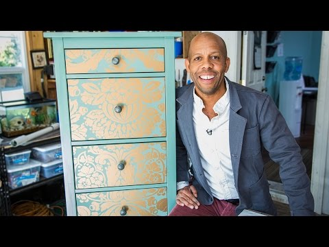 Home & Family - How to Makeover your Dresser using Wallpaper