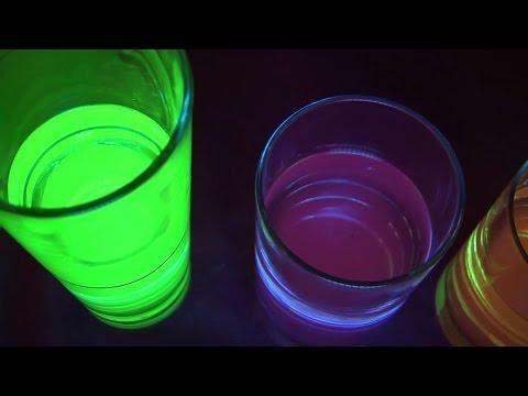 מדע בבית - הכנת צבעים זוהרים בחושך