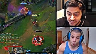 YASSUO'S LEVEL 1 INVADE IN KOREA WENT WRONG   WHEN TYLER1 PLAYS KARTHUS   TF BLADE   LOL MOMENTS
