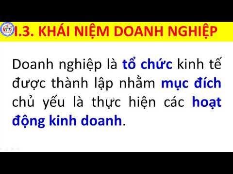 CÔNG NGHỆ 10 - CHỦ ĐỀ 7: DOANH NGHIỆP VÀ CƠ HỘI KINH DOANH (TIẾT 1)
