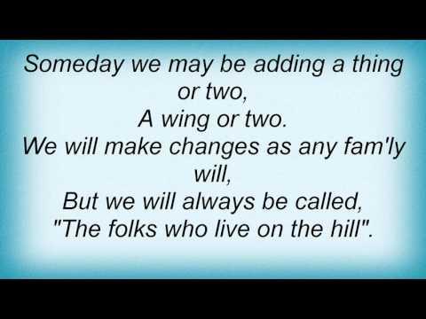 15516 Nina Simone - Folks Who Live On The Hill Lyrics