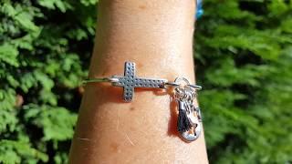 Bracelet sur mesure jonc fin et croix !