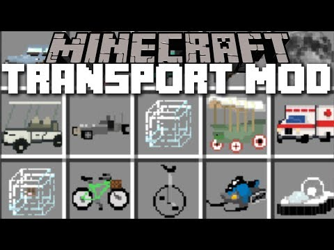 Minecraft TRANSPORTATION MOD / TRAVEL AROUND IN STYLE WITH THESE NEW CARS!! Minecraft