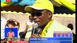 Ababu Namwamba auza sera za chama cha Jubilee Busia