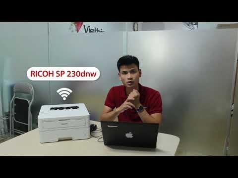 Hướng dẫn cài đặt kết nối Wifi của máy in Ricoh SP 230dnw - VIETBIS.VN