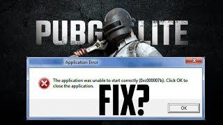 pubg pc lite error 0xc00007b fix - Thủ thuật máy tính - Chia sẽ kinh