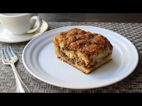 Pecan Sour Cream Coffee Cake Recipe – How to Make a Crumb Cake