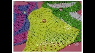Bolero Chaleco En Crochet Todas Las Tallas