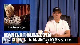 Manila Mayor Isko Moreno Grieves The Death Of Former City Mayor Alfredo Lim