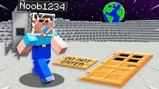 I Found Noob1234's Secret Minecraft Moon Base!