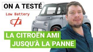Jusqu'où peut-aller la Citroën AMI avec une seule charge ?
