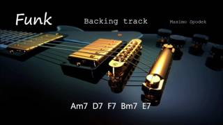 FUNK IN Am BACKING TRACK FOR SAXOPHONE, GUITAR, PIANO, TRUMPET AND PERCUSSION
