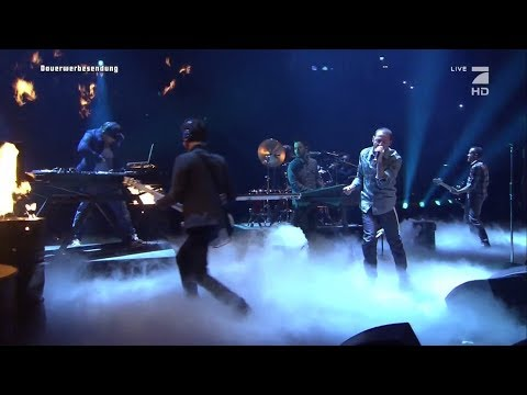 Linkin Park Performs 'Burn It Down' at  TV total Autoball EM, Germany 2012