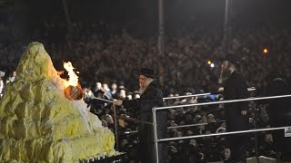 Satmar Hadlakah - Bonfire in Kiryas Yoel Lag B