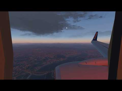 RYANAIR SUN LANDING IN SKHIATOS AIRPORT//XPLANE 11//WINDOW