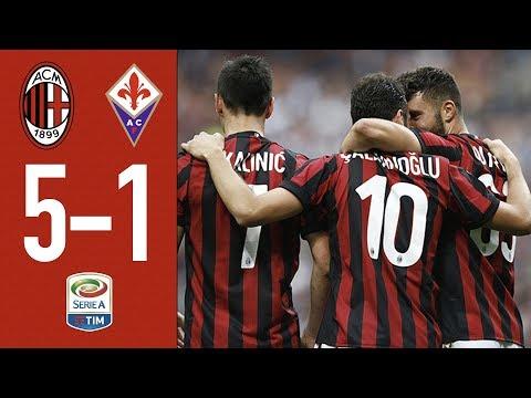 Highlights AC Milan 5-1 Fiorentina - Matchday 38 Serie A 2017/18