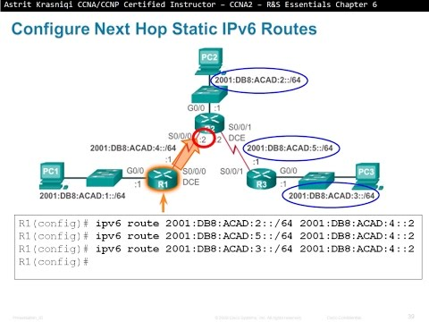 6.2 Configure Static and Default Routes: Static Routing (CCNA 2 ...