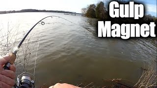 Bank Fishing with a Gulp Minnow on a Trout Magnet Jig Head