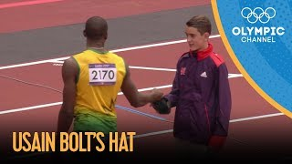 Usain Bolt Gives His Hat To Young Volunteer | London 2012 Olympic Games