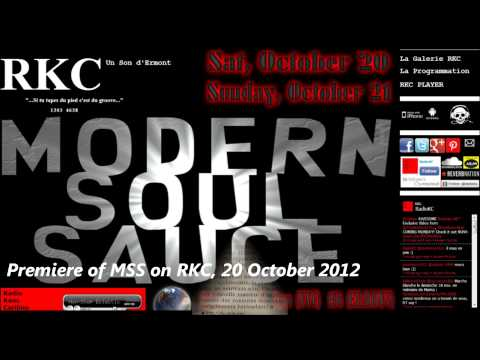 "Modern Soul Sauce Radio Show PROMO Nov 2012 (w/ DeRobert & The Half-Truths' ""The Joy"")"