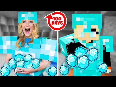 Living Like My MINECRAFT Character for 100 Days! - Challenge