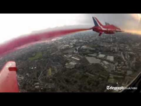 Watch A Fleet Of Red Arrows Fly Across London Spraying Colour To Celebrate The Olympics
