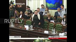 Ukraine: Savchenko mocks Ukrainian Rada with