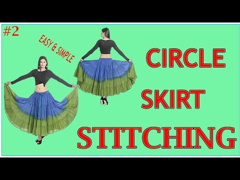 Circle Skirt Stitching in Hindi Part - 2