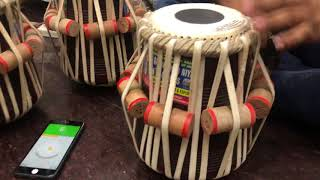 High professional quality Tabla c,c#,d,d#,e,f scale listen tone Ustad QKN AND SONS subscribe channel