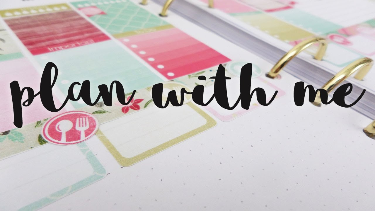 Decoración de agenda | Plan with me | Week 12/2017