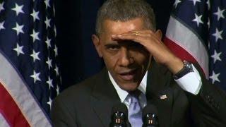 Obama disarms heckler