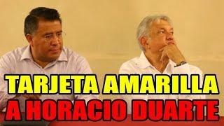Regaña López Obrador a Horacio Duarte, dirigente de Morena en el Edomex